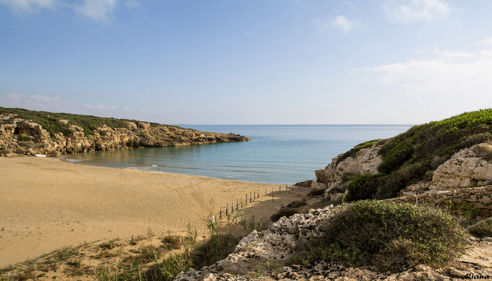 Calamosche Beach in Syracuse Sicily