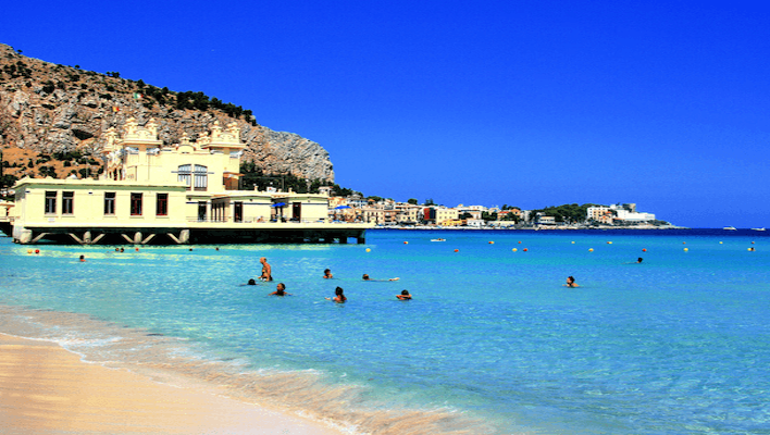 Mondello beach Sicily